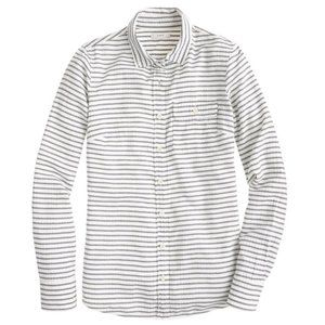 J. Crew Boy Shirt Suckered Striped Button Down